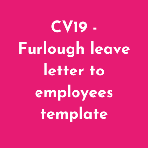 Furlough leave template letter