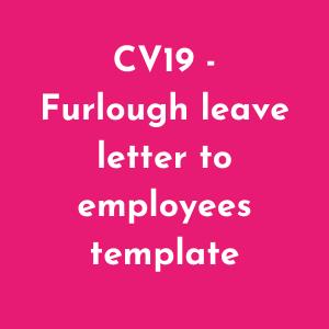 Furlough leave template letter